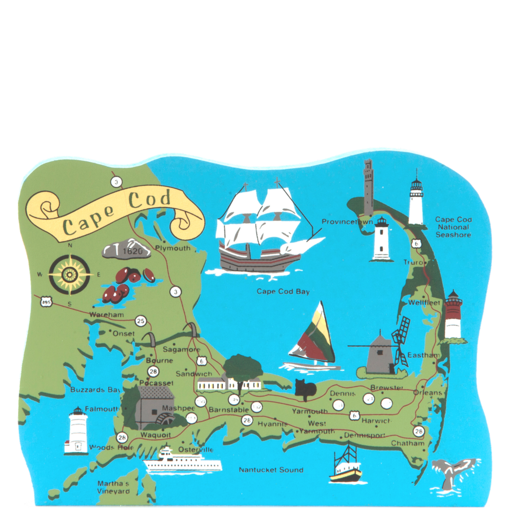 Cape Cod Map Ma The Cat S Meow Village