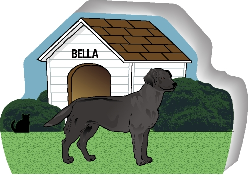 Dog house lab black purrsonalize me the cat 39 s meow for Dog house for labrador retriever