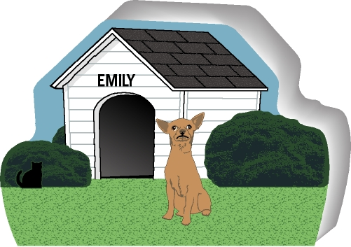 chihuahua dog houses dog house chihuahua tan short hair purrsonalize me 8784