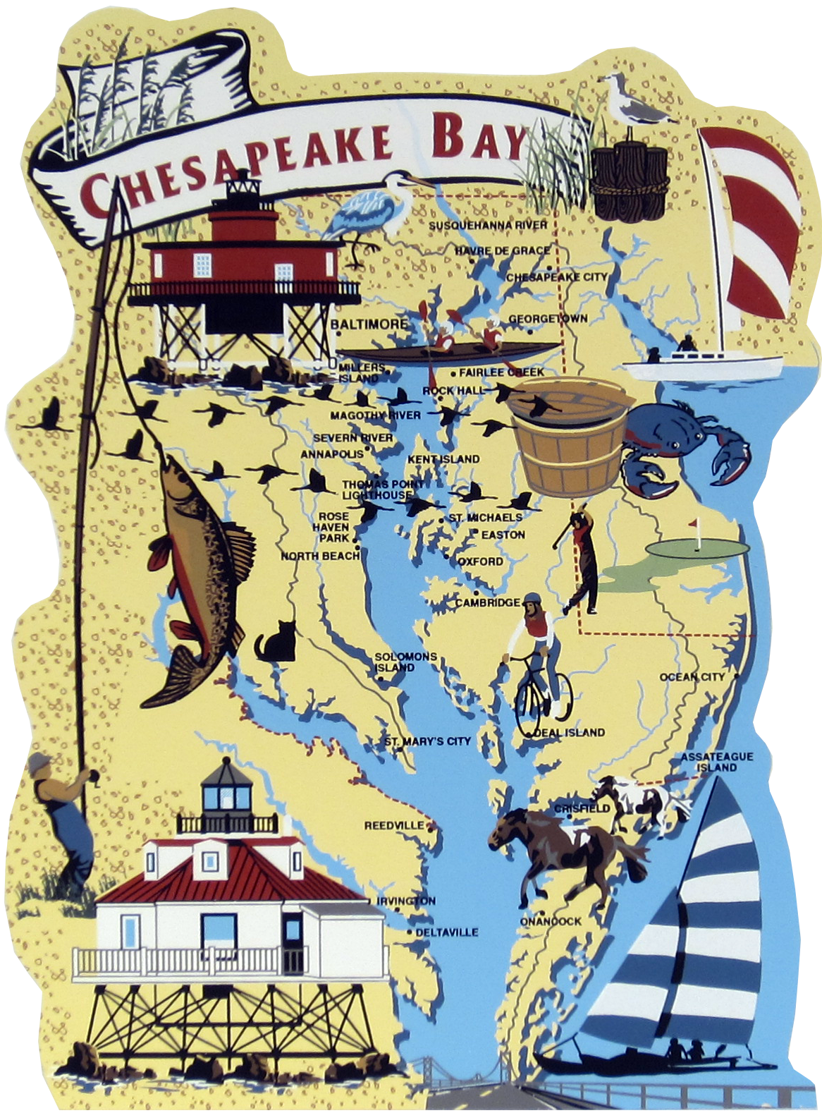 Chesapeake Bay Map The Cat S Meow Village