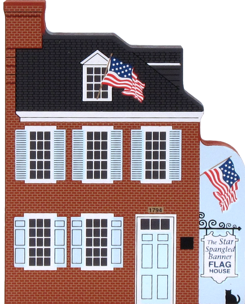 flag house baltimore maryland  cats meow village