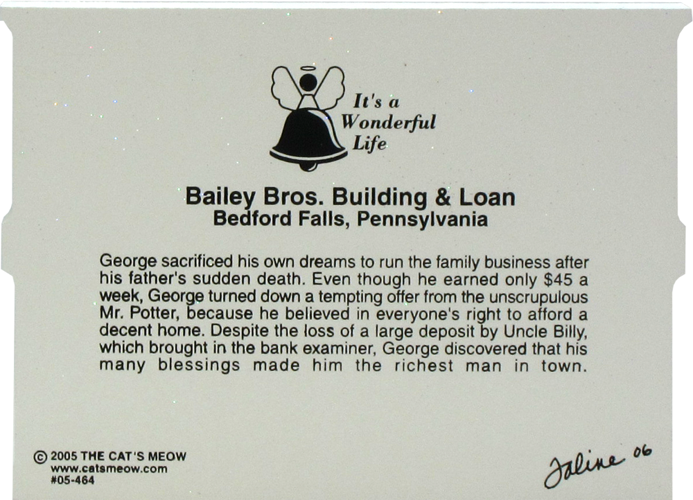 Bailey Bros Building Amp Loan It S A Wonderful Life The