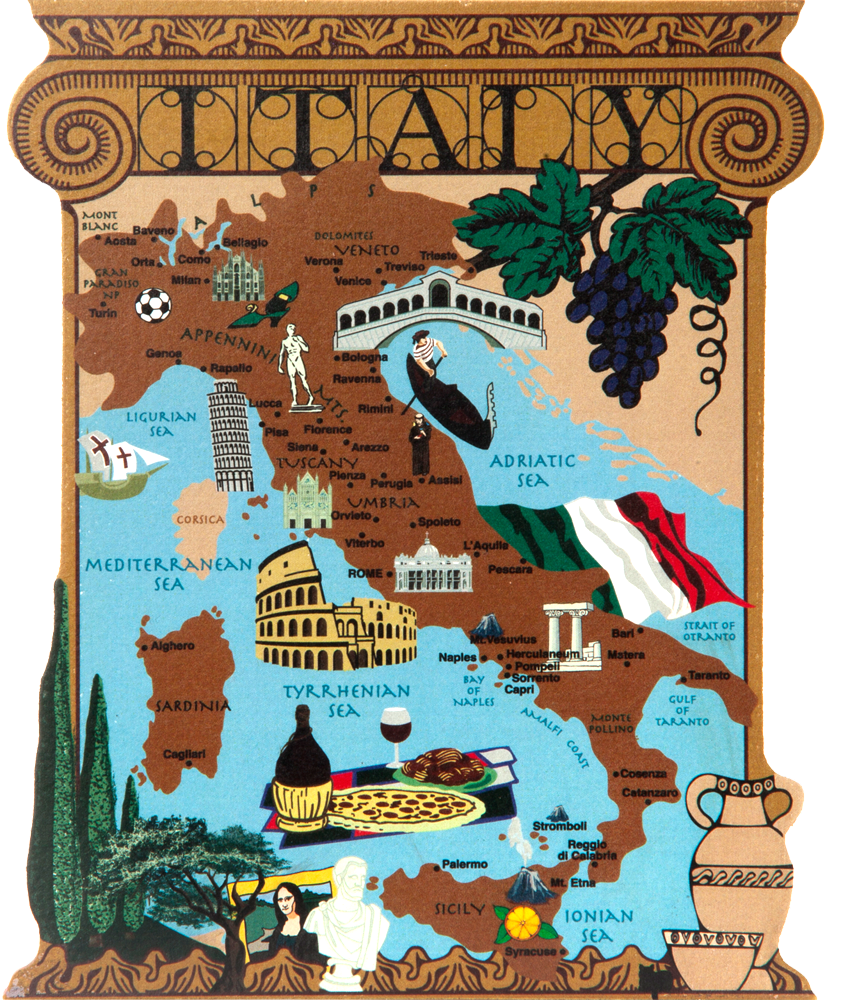 Italy Map The Cat S Meow Village