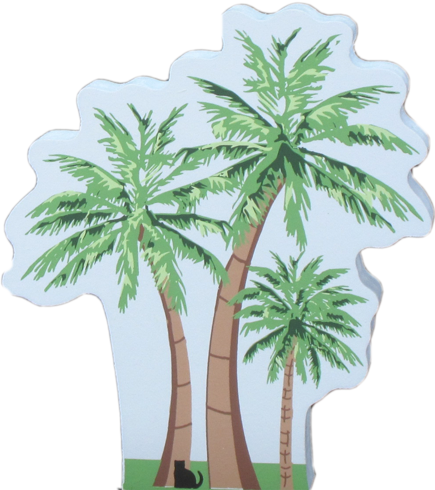 palm tree trio  cats meow village