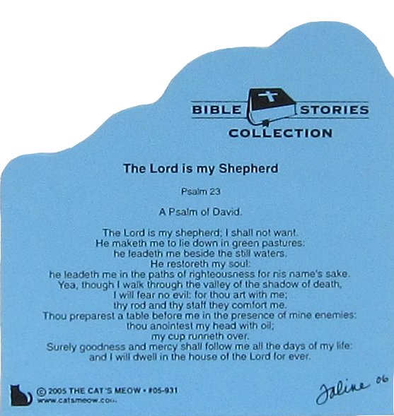 Lord Is My Shepherd Psalm 23 The Cat S Meow Village