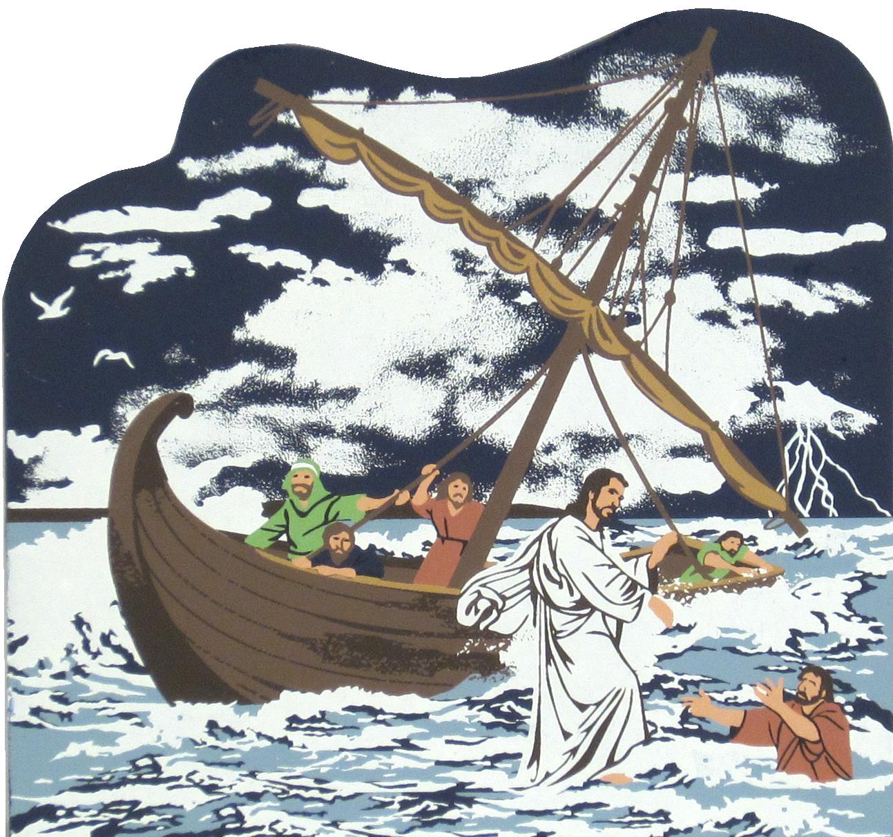 jesus walks on water matthew 14 23 33 the cat u0027s meow village