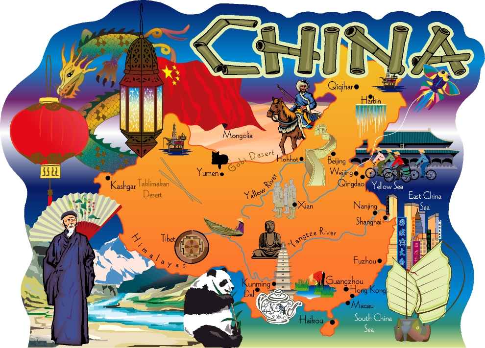 China Map The Cats Meow Village - China map