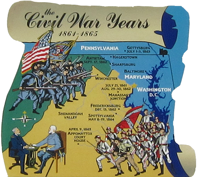 Civil War Years Map The Cat S Meow Village