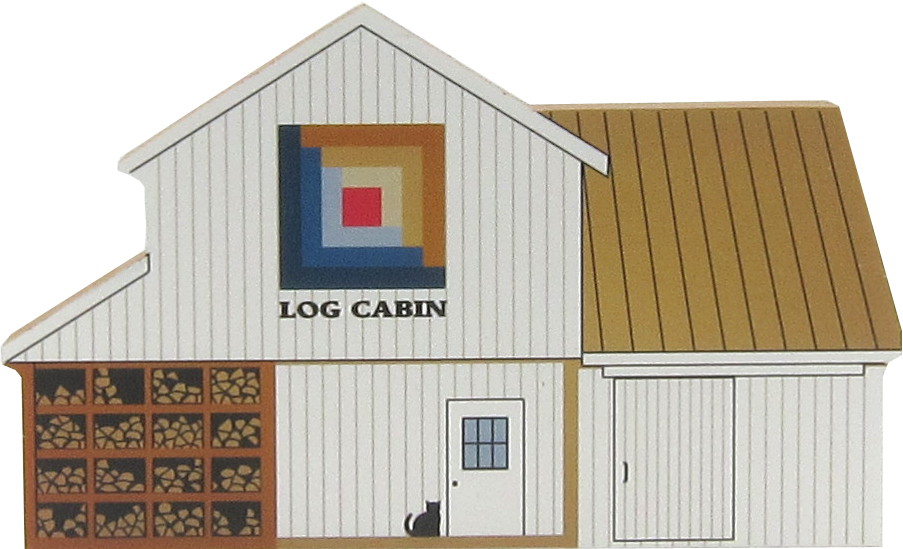 Log Cabin Quilt Barn   The Cat's Meow Village
