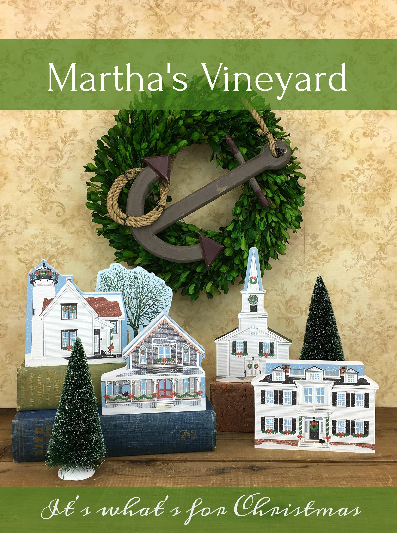 Martha S Vineyard Christmas West Chop Lighthouse The Cat