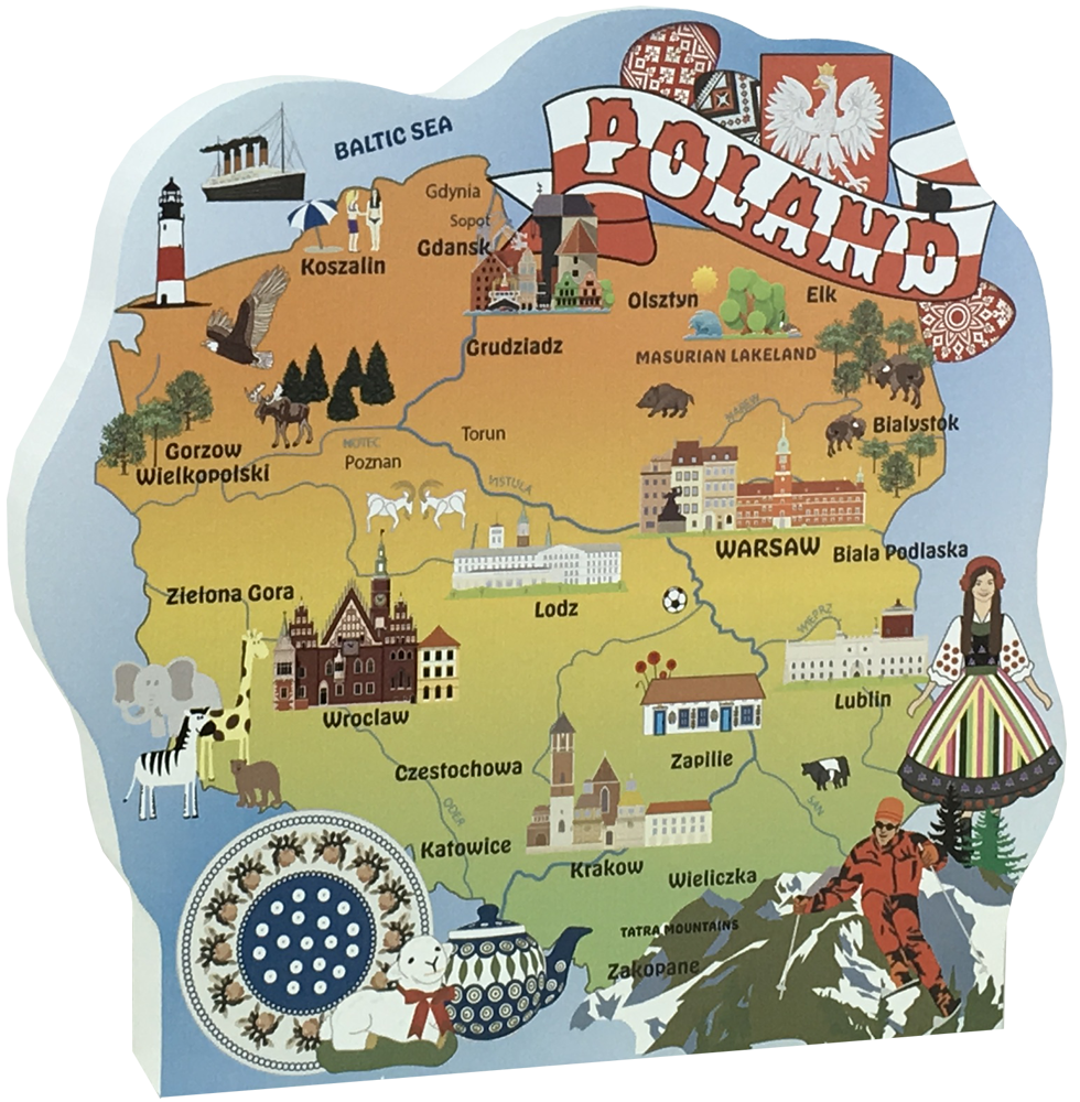 Map Poland The Cat S Meow Village