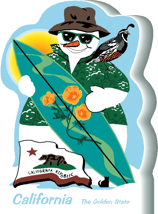 California State Snowman The Cat S Meow Village