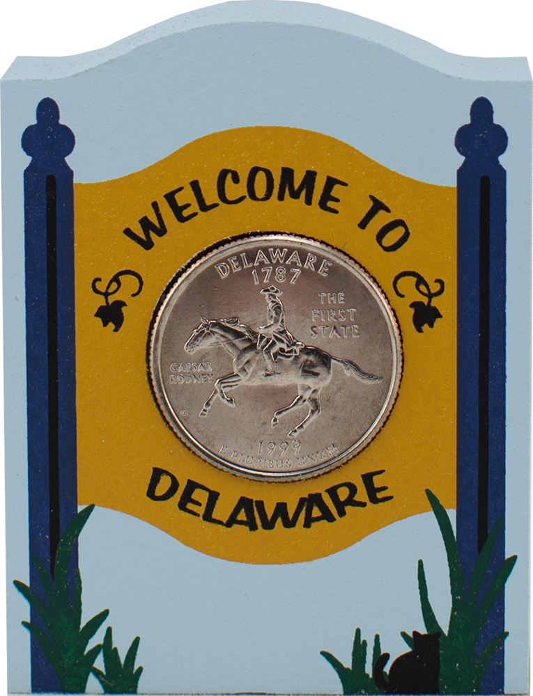 State Quarter Holder Delaware The Cat S Meow Village