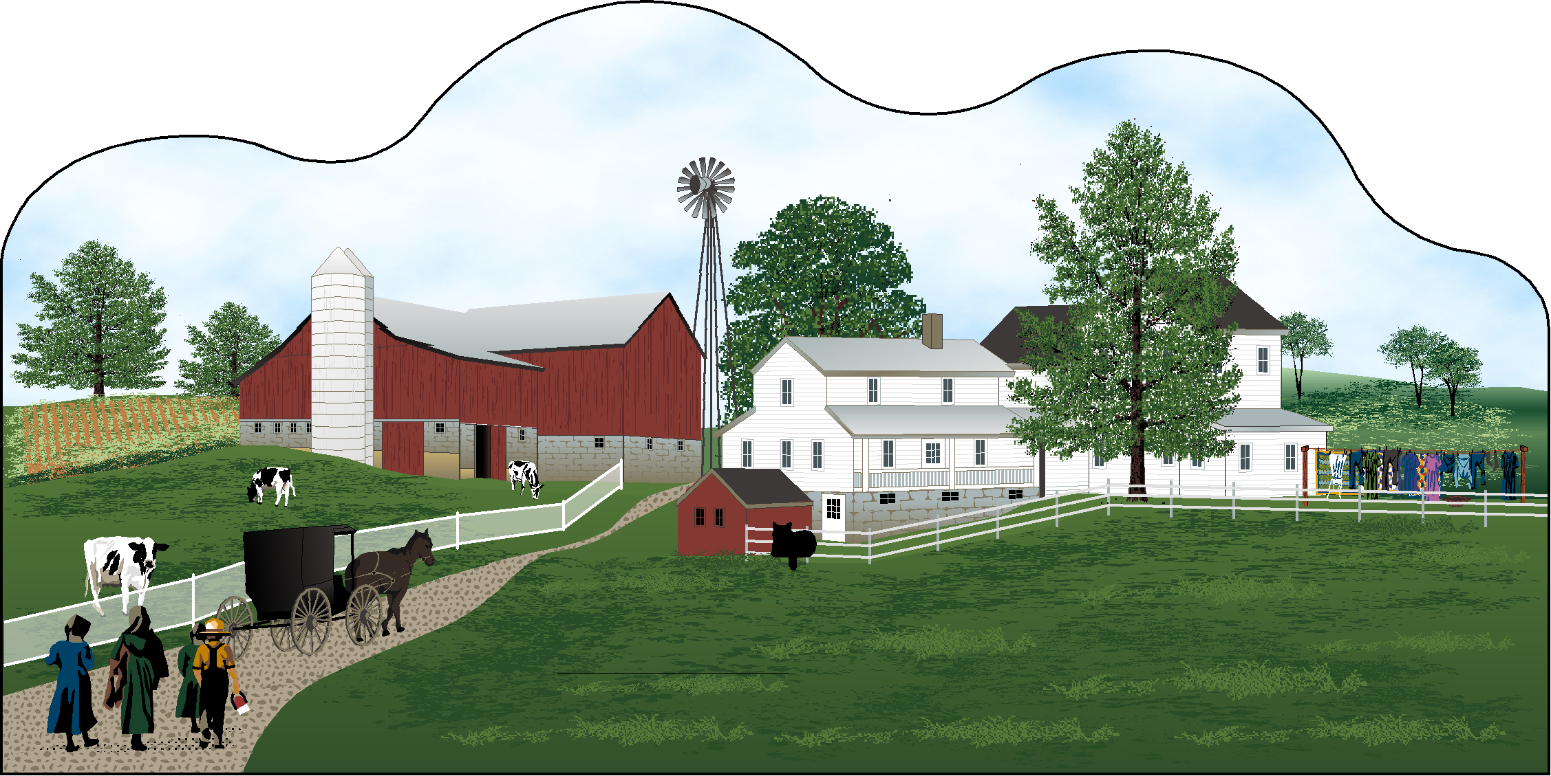 Amish Country Scene The Cat S Meow Village