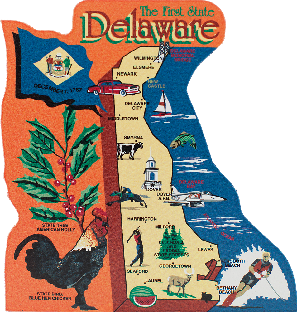 State Map, Delaware | The Cat's Meow Village