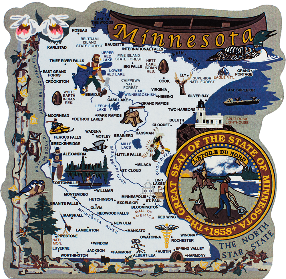 State Map Minnesota The Cats Meow Village