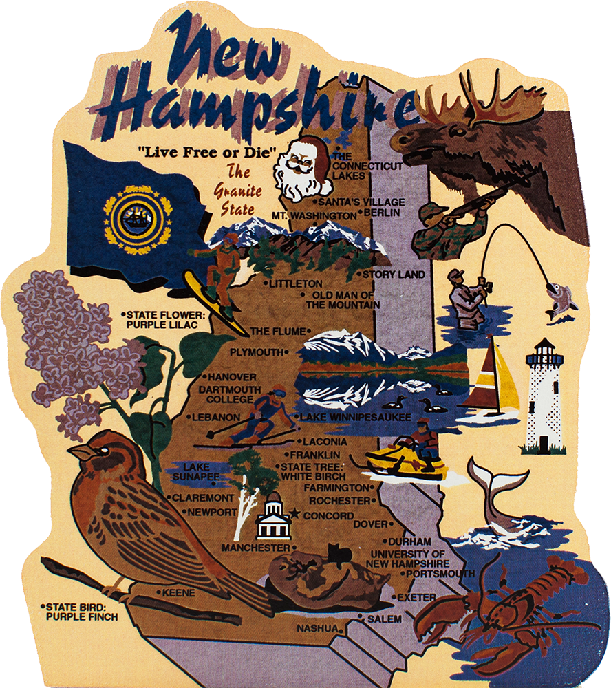 State Map New Hampshire The Cats Meow Village Us Map New Hampshire State