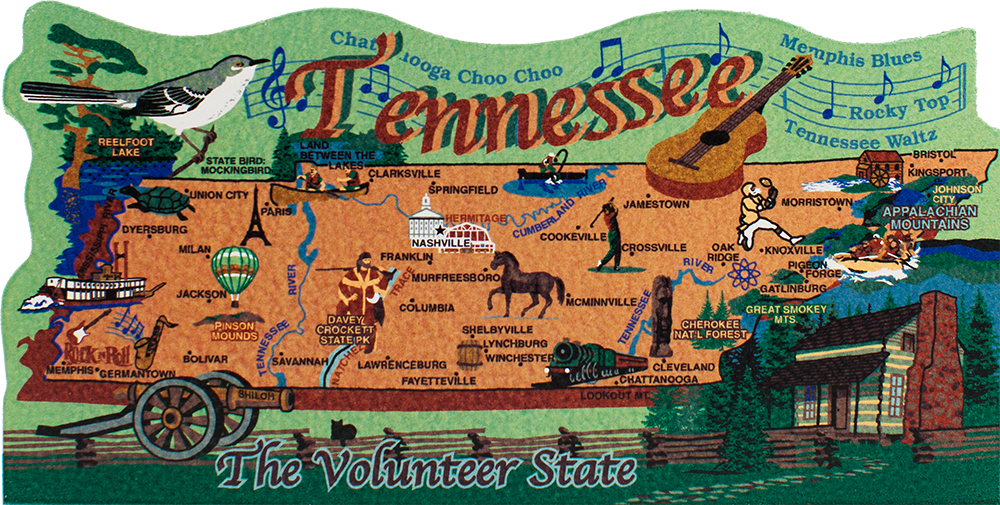 State Map Tennessee The Cat S Meow Village