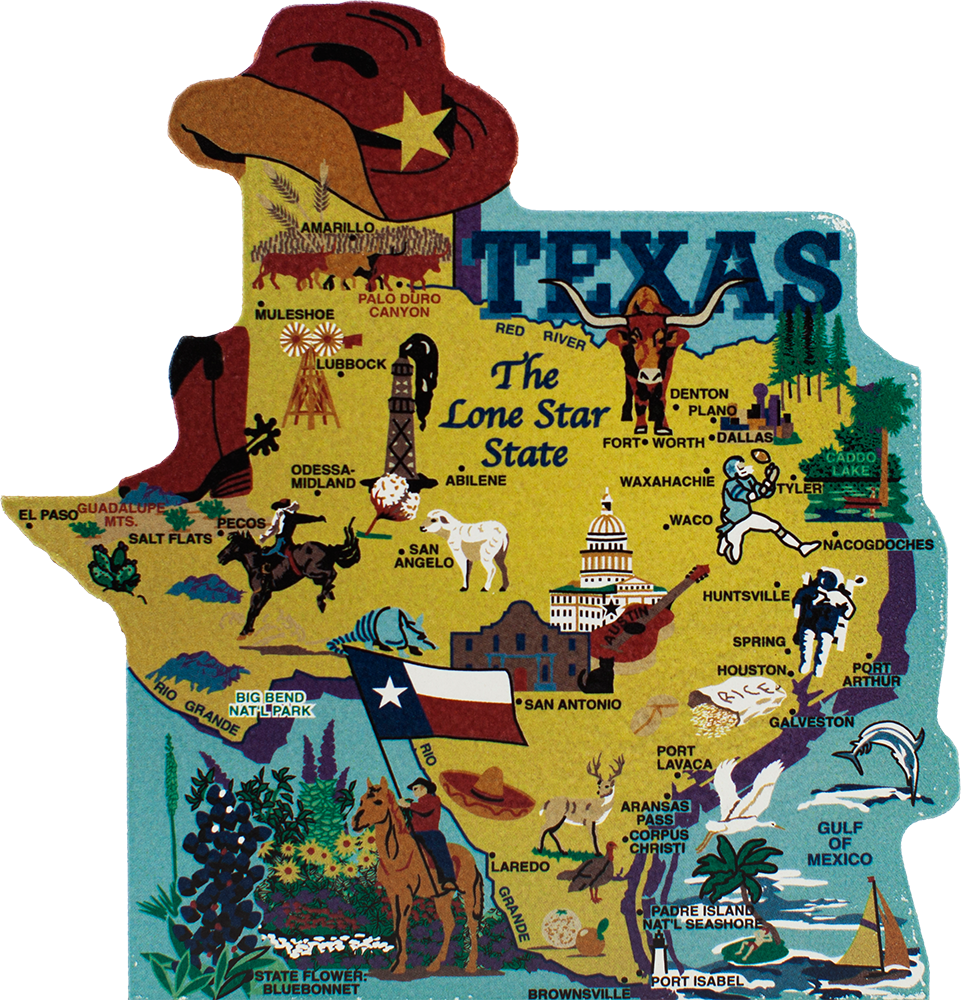 State Map Texas The Cat S Meow Village