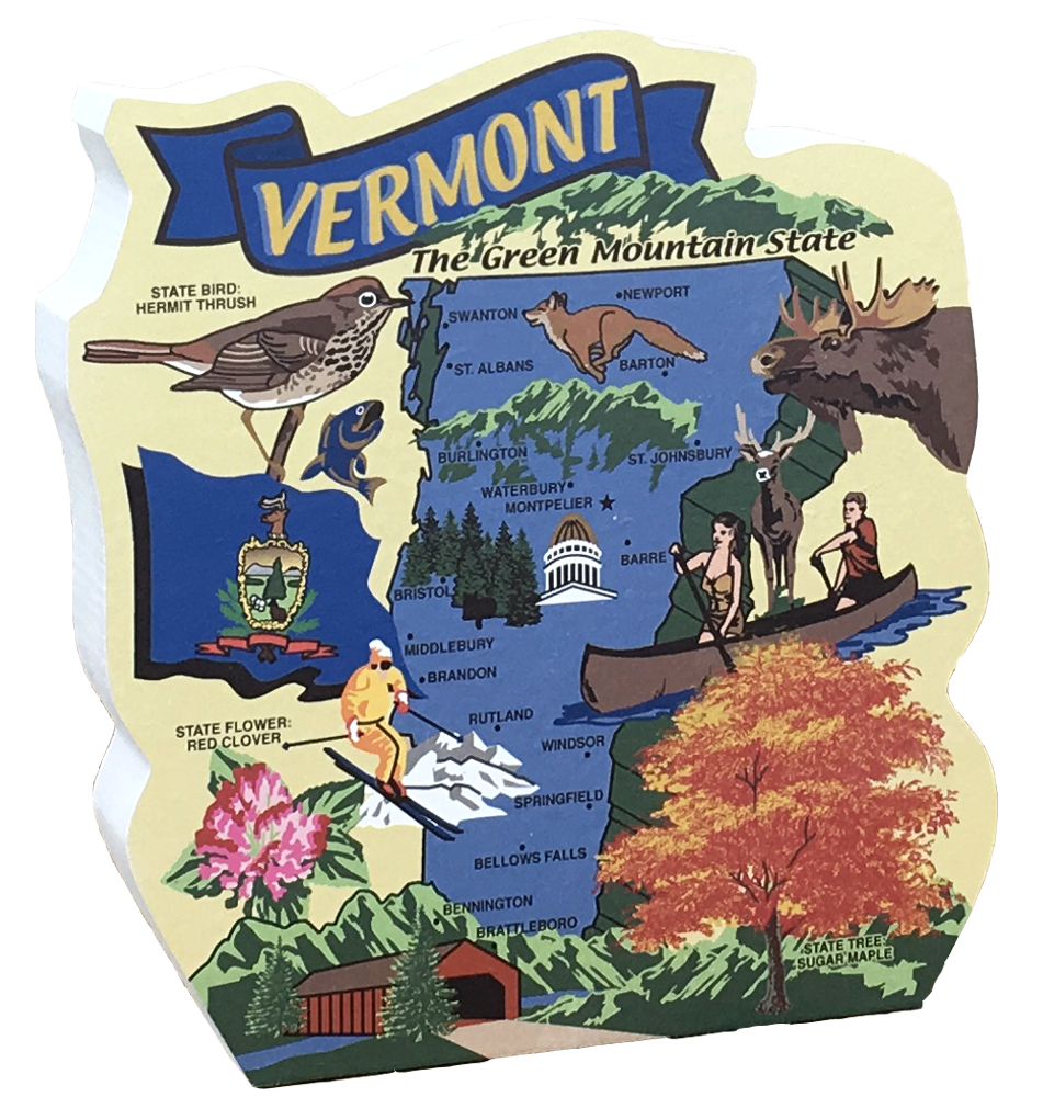 State Map, Vermont | The Cat's Meow Village