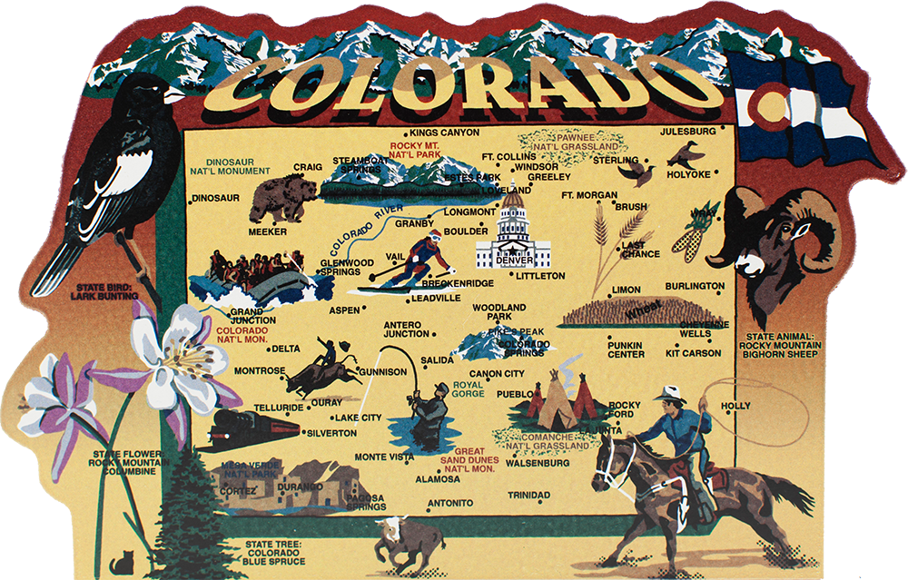 State Map Colorado The Cats Meow Village - Colorado state map