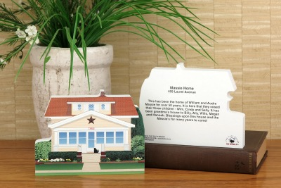 Example of the front and back of a personal home we handcrafted for the home owner.