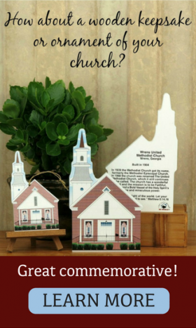 Do you belong to a church? Cat's Meow church replicas are popular fund raisers and commemoratives.