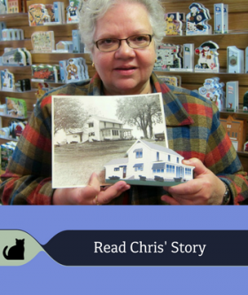 Read Chris' unique story about crafting her childhood home.