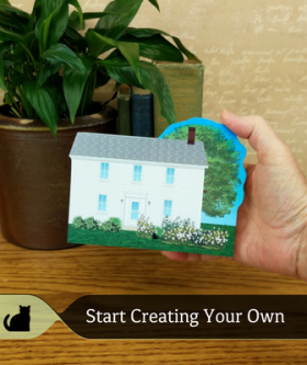 Get a portrait of your home made the Cat's Meow way!