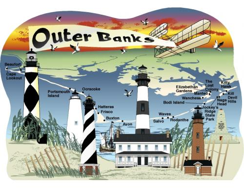 Build a mini Outer Banks village within your home decor to remind you of the special times you've spent on the Outer Banks.