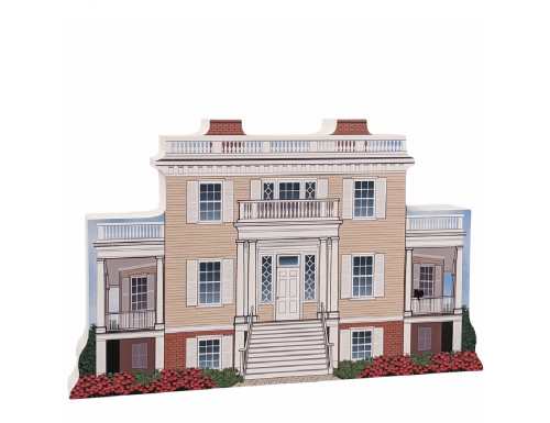 """Hamilton Grange National Memorial, Manhattan, New York. Handcrafted in the USA 3/4"""" thick wood by Cat's Meow Village."""