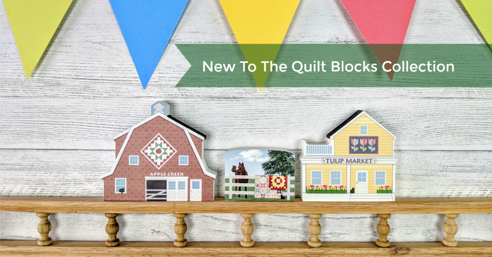 Three new items join our Quilt Blocks Neighborhood Collection this year.