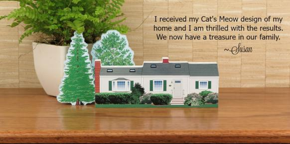 Susan is thrilled with the Cat's Meow version of her home.