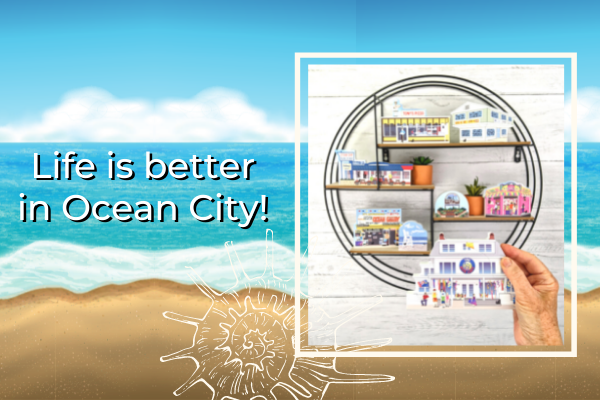 Remember your trip to Ocean City, Maryland with Cat's Meow souvenirs.