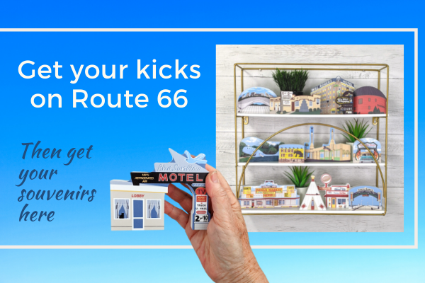 Grab all of your Route 66 souvenirs here. More coming all the time.