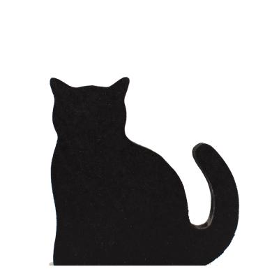 Sit our Casper, black cat trademark on a shelf or windowsill to show off your Cat's Meow pride! Handcrafted in USA by The Cat's Meow Village