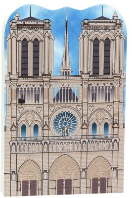Notre Dame de Paris wooden souvenir handcrafted by The Cat's Meow Village