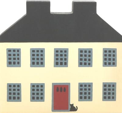 "Vintage Federal House from Series I handcrafted from 3/4"" thick wood by The Cat's Meow Village in the USA"