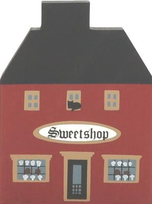 "Vintage Sweet Shop from Series I handcrafted from 3/4"" thick wood by The Cat's Meow Village in the USA"