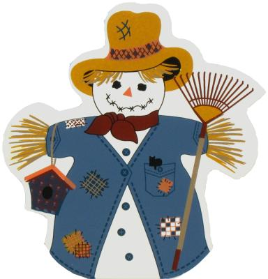 Fall Snowman, autumn, raking leaves, straw hat
