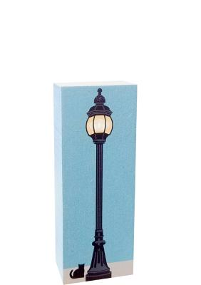 Cute wooden lamppost can be popped into a Cat's Meow display to add a Village feel.