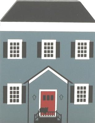 """Vintage Allen-Coe House from Series III handcrafted from 3/4"""" thick wood by The Cat's Meow Village in the USA"""