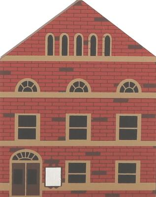 """Vintage Opera House from Series III handcrafted from 3/4"""" thick wood by The Cat's Meow Village in the USA"""