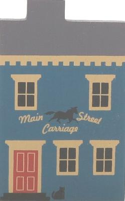 "Vintage Main Street Carriage from Series III handcrafted from 3/4"" thick wood by The Cat's Meow Village in the USA"
