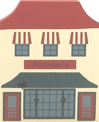 """Vintage Ristorante from Series III handcrafted from 3/4"""" thick wood by The Cat's Meow Village in the USA"""