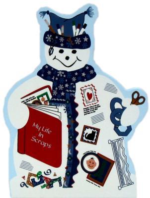 Scrapbooking Snowman, memories, photos