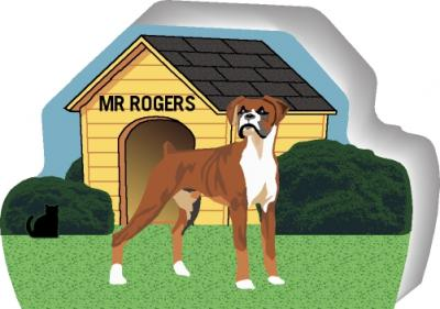 Boxer can be personalized with your dog's name