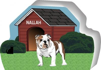 Bulldog can be personalized with your dog's name
