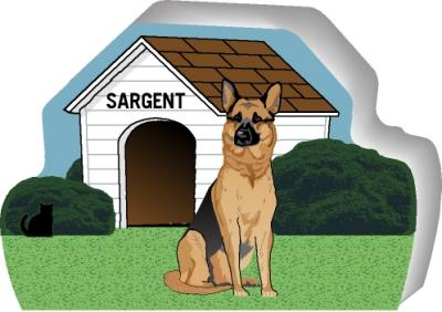 German Shepherd can be personalized with your dog's name
