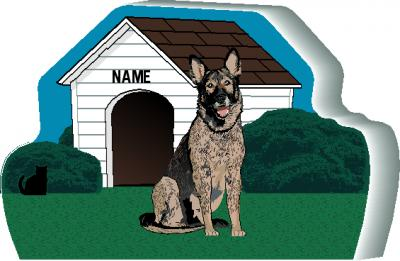 Dog House, German Shepherd, Black Sable, PURRsonalize Me!